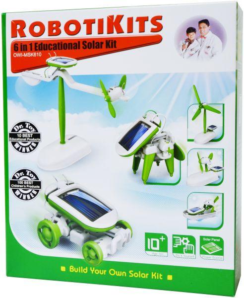 ZB2 ROBOT KITS zestaw 6w1 - zabawki SOLAR KIT PANEL !