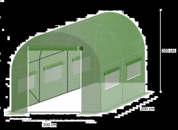 01A FOLIOWY TUNEL OGRODOWY Folia Szklarnia 2x2m + TYCZKI