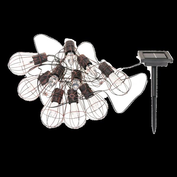 TG60432 LAMPKI SOLARNE 10LED LOFT DRUCIANE OGRODOWE KLIMAT